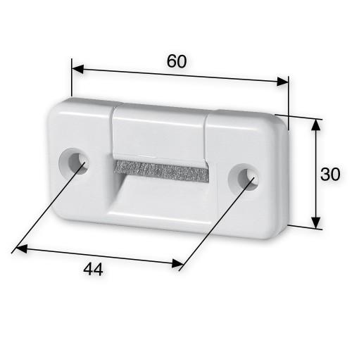 gurtf hrung mit b rstendichtung einlauf rechteckig bis 23 mm breite rolladengurt ebay. Black Bedroom Furniture Sets. Home Design Ideas