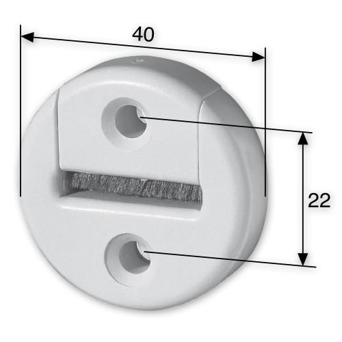 gurtf hrung mit b rstendichtung rund bis 23 mm breite rolladengurt ebay. Black Bedroom Furniture Sets. Home Design Ideas