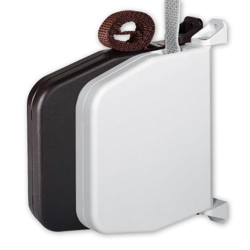 mini aufputz gurtwickler wei schwenkbar inkl gurt 15mm x. Black Bedroom Furniture Sets. Home Design Ideas